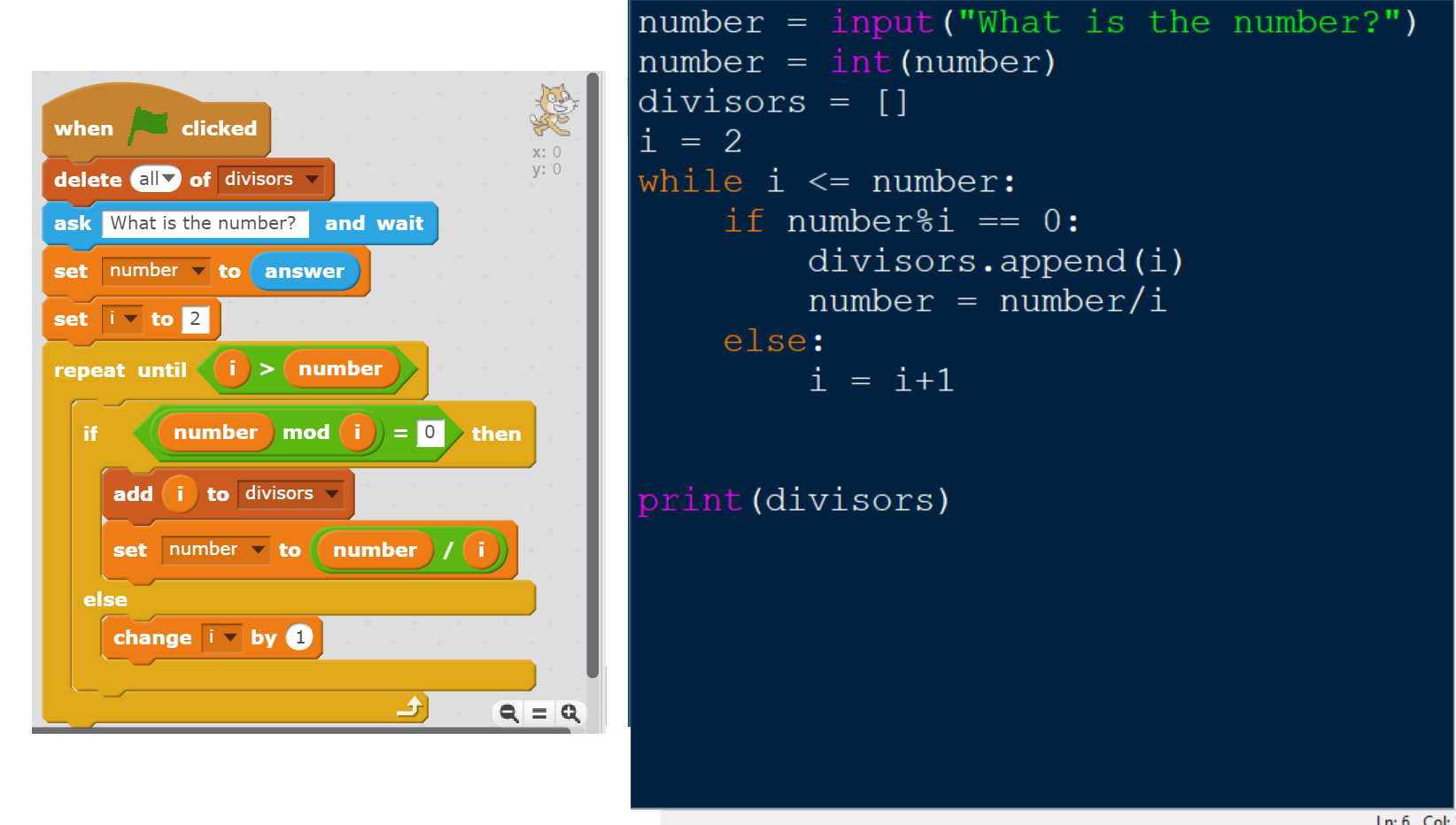 Prime Factor Finder: Scratch vs  Python | Poly Ed